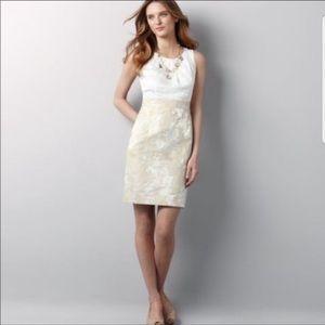 Lela Rose for LOFT   Metallic Jacquard Dress